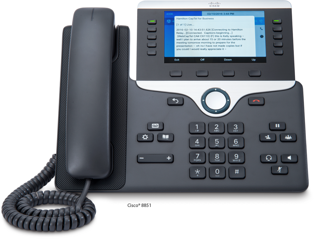 Hamilton CapTel for Business Telephone